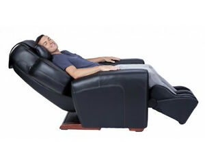 BLACK-LEATHER-AcuTouch-9500-Human-Touch-Massage-Chair-Lounge-Recliner