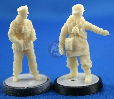 2 Figures NW009+NW011 Peddinghaus 1//48 German Waffen-SS Officers WWII NW020