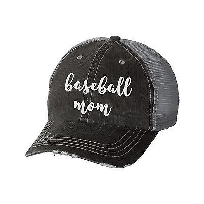 b7d570776 Baseball Mom Distressed Glitter Ladies Trucker Hat - Sports Mom Team | eBay