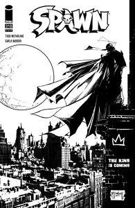 (2021) SPAWN #318 MCFARLANE & CAPULLO BLACK & WHITE VARIANT COVER!