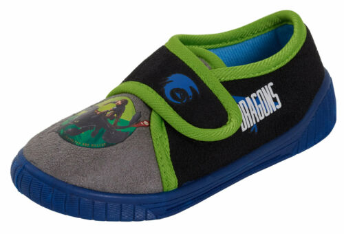 How To Train Your Dragon Boys Slippers Kids Touch Fasten House Shoes Booties