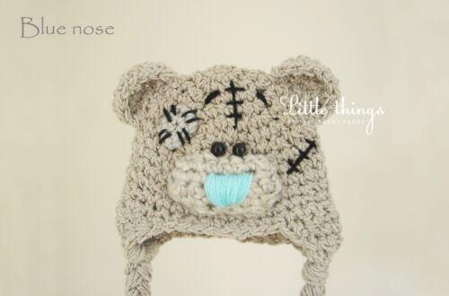 Pretty Newborn Crochet Teddy Bear Beanie Hat Photo Photography Prop