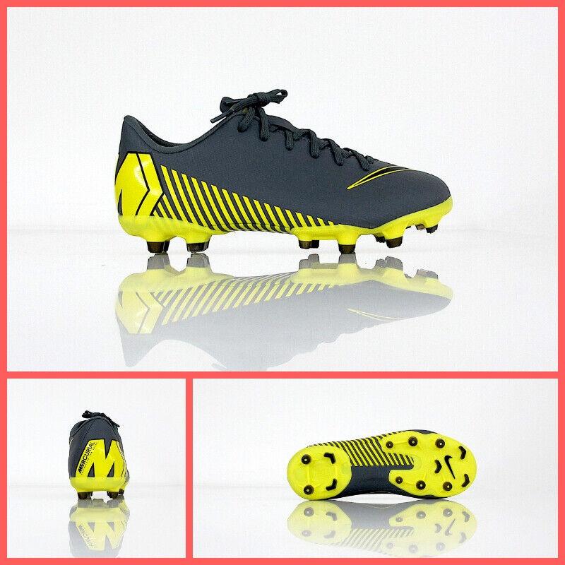 Zapatos NIKE fútbol niño VPR 12 ACADEMY GS FG MG AH7347 070 gris febrero 2019
