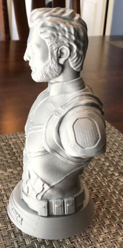 """3D Printed Captain America Bust 7.8/"""" Tall Free Shipping!"""