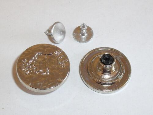 2 Stück Jeansknöpfe Nietknöpfe Knopf  silber 15 mm rostfrei  NEUWARE 0439