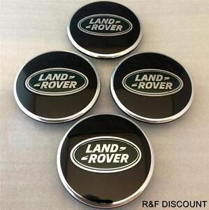 Since Centre Wheel Hub Cap Land Rover Range Rover Emblem Green Silver 63mm 4 Pieces