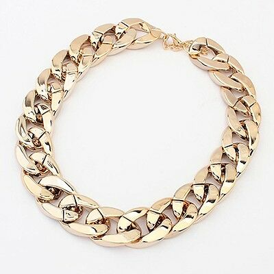 Fashion Jewelry 9k Yellow Gold Filled Resin Hollow Sweater Chain Necklace Gift