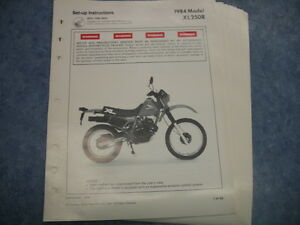 Details about 84 XL250R XL 250 1984 HONDA FACTORY OEM EMBLY SET UP on