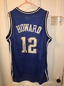 140673f6c4799 Details about DWIGHT HOWARD Signed Jersey w/ COA Orlando Magic Blue Adidas  Hornets Autograph