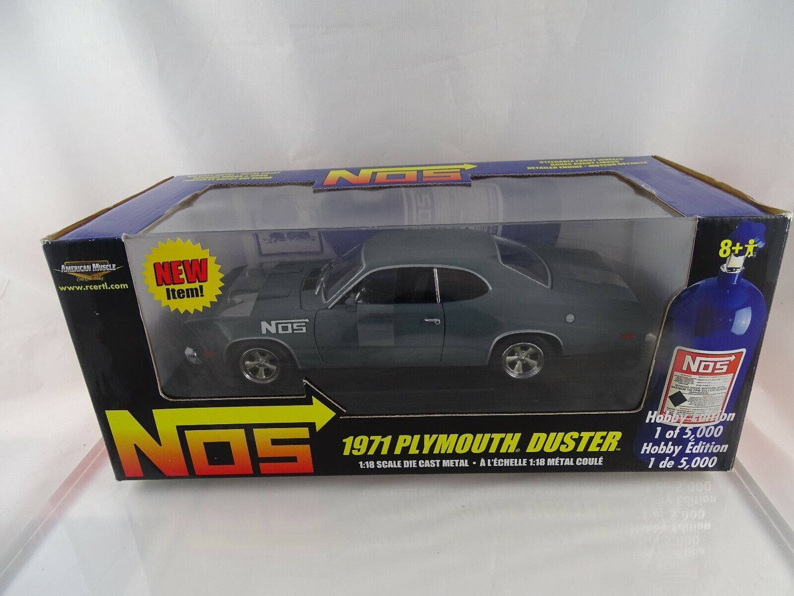 1 18 ERTL American Muscle 36985 1971  Plymouth Duster NOS Hobby Edition gris OVP  qualité officielle