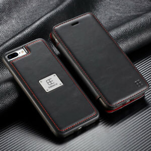 timeless design 591d8 918ec Details about Magnetic Flip Wallet Case Leather Detachable Cover For iPhone  XS Max XR X 8 7 6S