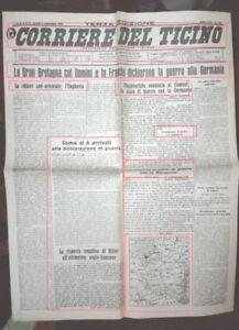 Giornale Di Replica Gran Bretagna Dichiara Guerra
