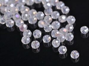 300x-Wholesole-3mm-Round-Faceted-Crystal-Glass-Charm-Loose-Spacer-Beads-Clear-AB