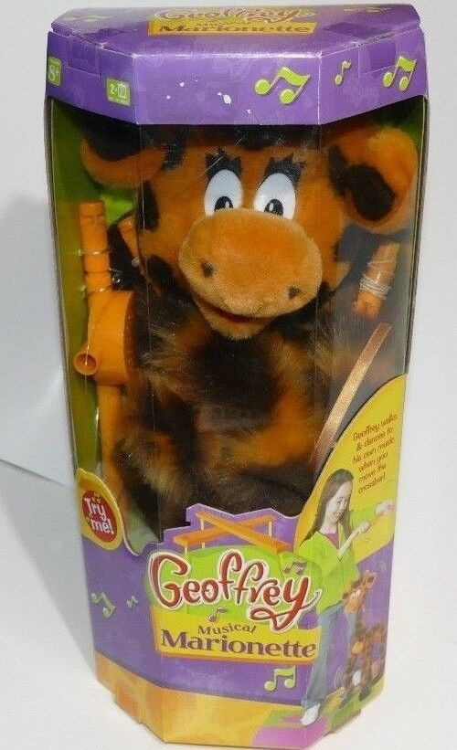RARE Toys R Us GEOFFREY The Giraffe Musical Marionette Brand New in Box