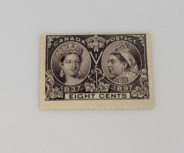 Stamp Pickers Canada 1897 Queen Victoria Diamond Jubilee 8c Scott #56 MNH $600