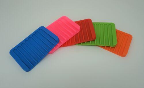 Silicone Flexible Soap Dish Multicolor Set of 5