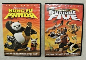Set Of 2 Dvd S Kung Fu Panda Movie And Secrets Of The Furious Five Dvd Ebay