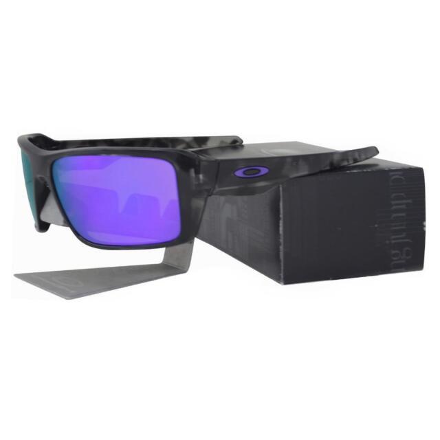 782de600134 Oakley OO 9380-0466 DOUBLE EDGE Matte Black Camo Violet Iridium Mens  Sunglasses