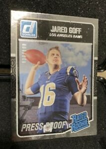 2016 Donruss Jared Goff Rated Rookie Press Proof #30/100 very rare Awesome Card!