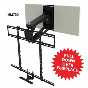 Mantelmount mm700 pull down fireplace tv mount for 45 90 - Pull down tv mount over fireplace ...