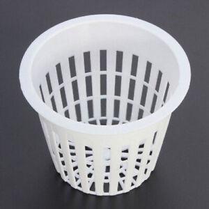 10Pcs-Plastic-Planter-Net-Basket-Flower-Pot-Hydroponic-Aquatic-Water-Plants-Grow