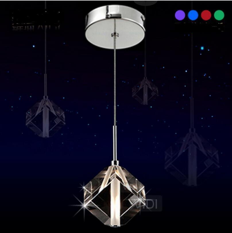 (EU)Crystal Ceiling Lamp Pendant Light Room Kitchen Lighting Chandelier Rhombus