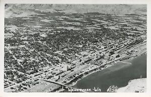 Aerial-View-Wenatchee-WA-Washington-Unused-Ellis-Real-Photo-Postcard-D19