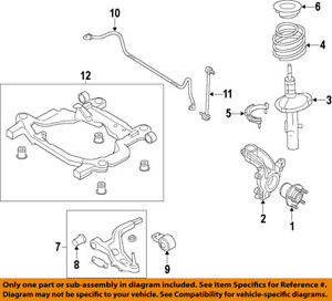 image is loading lincoln-ford-oem-2013-mkt-front-steering-knuckle-