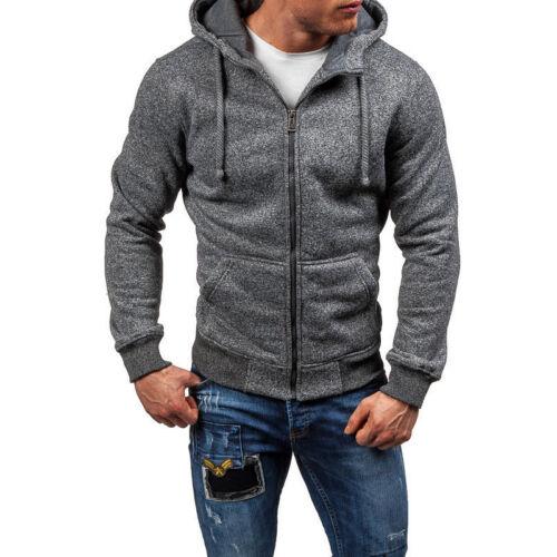 Men/'s Outwear Sweater Winter Slim Hoodies Warm Hooded Sweatshirt Coat Jacket