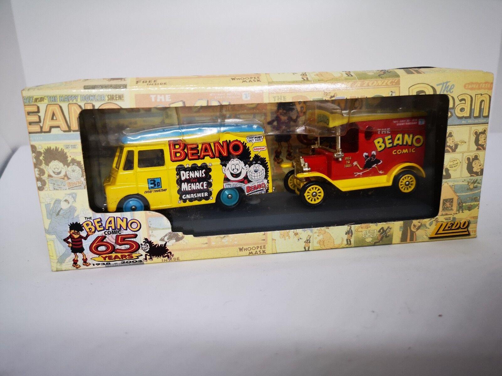 Lledo BN1002 The Beano Comic 65 Years 1938 - 2003 - 2 Vans - (Never opened)