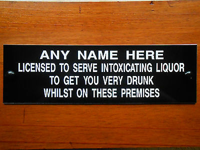 BBQ GARDEN PARTY PUB HOME BAR DAD MOM GIFT LICENSEE SIGN PERSONALISED & NEW!!!!
