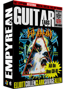 Details about Def Leppard HYSTERIA Guitar & Bass Tabs CD-R Digital Lessons  Software Win Mac