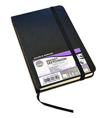 Daler Rowney Simply Spiral Hardback Sketchbook 100gsm Acid Free 54 Sheets A5
