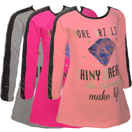 Neu Trends Sweat Long Top Oberteil für Mädchen Tunika Shirt Sweatshirt Pulli