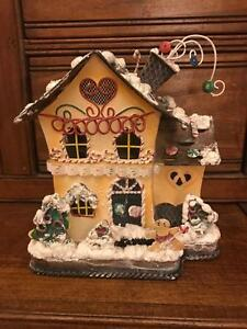 votive candle holder gingerbread house metal home interiors