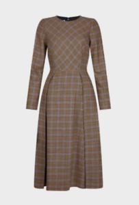 Ex M*S Jacquard Checked Shift Dress Size 6-24