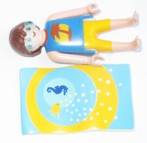 Playmobil-FIGUR-Mann-Sonnenbrille-Freizeit-Urlaub-Pool-3205-Badetuch-Handtuch