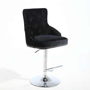 Home & Garden Grey Brushed Velvet Rocco Barstool Fixing Prices According To Quality Of Products