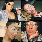Vintage Retro Classic Aviator Style Eyewear Clear Lens Gold Fashion Eyeglasses
