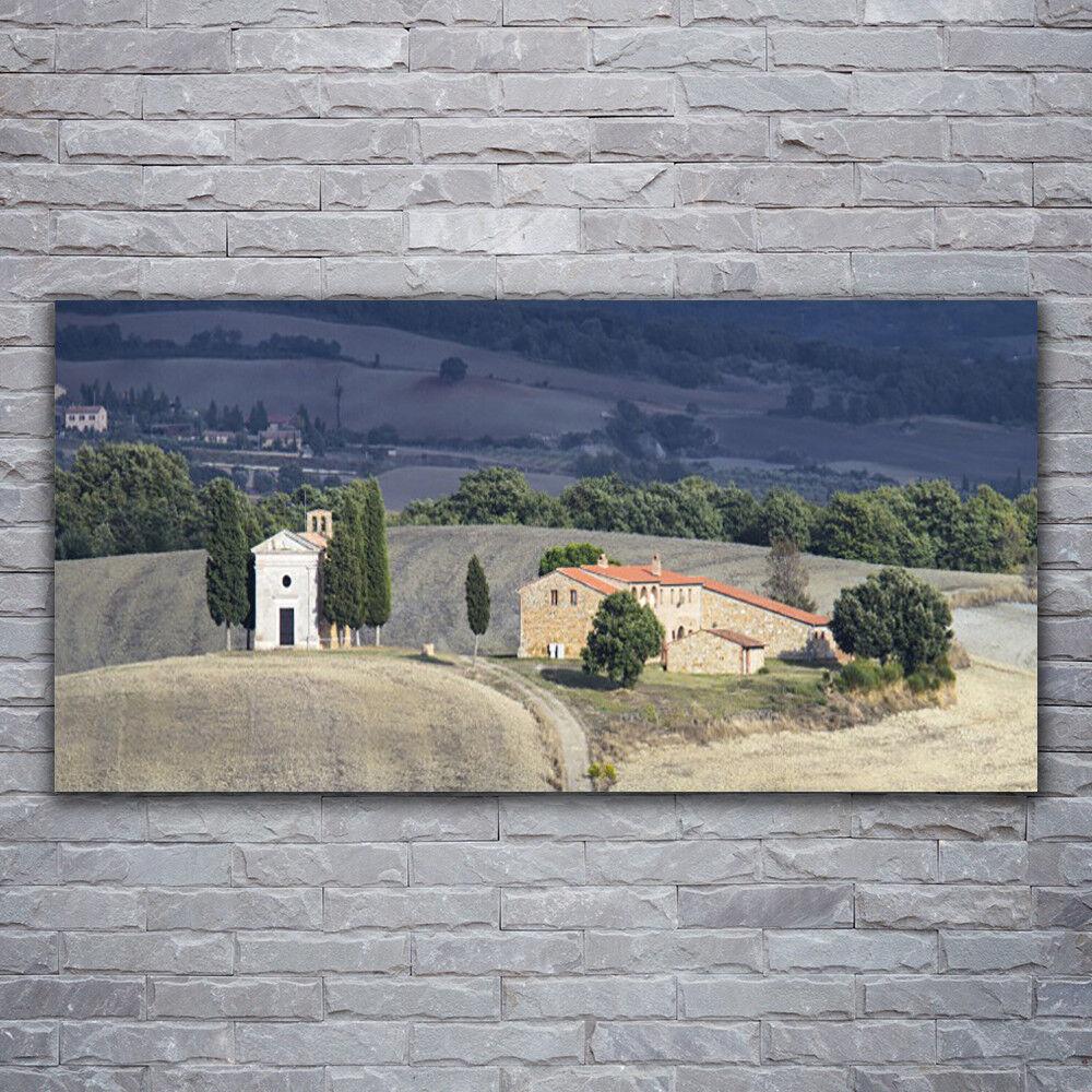 Photo sur toile Tableau Image Impression 120x60 Paysage Prairie Arbres