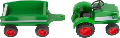 Bauernhof Woodfriends Traktor Trecker  mit Anhänger Holz