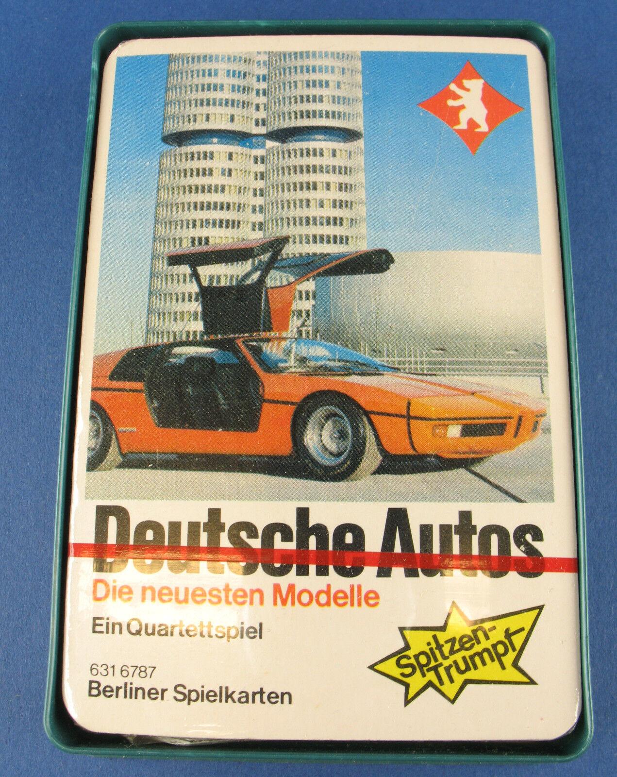 Quartetto-LE AUTO Tedesca di Berlino - 6316787-nuovo in pellicola-Auto Gioco di Carte
