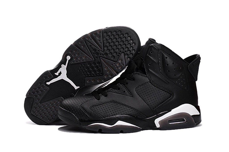 Nike air jordan 6 vi retrò gatto nero taglia 10 stile 384664-020