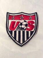 Us Soccer Sew On Patch Red Sports Collect, Crafts Bags Shirts Jackets Badge
