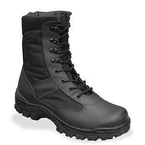 Miltec 8 Trous Noire Rangers security Chaussures Boots H6Ex5wEqO