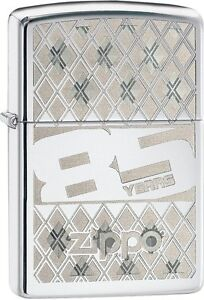 Zippo 85th Anniversary High Polish Chrome WindProof Lighter NEW 29438