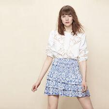 MAJE JETSET Printed Ruffled Skirt Size S Orig. $240 NEW