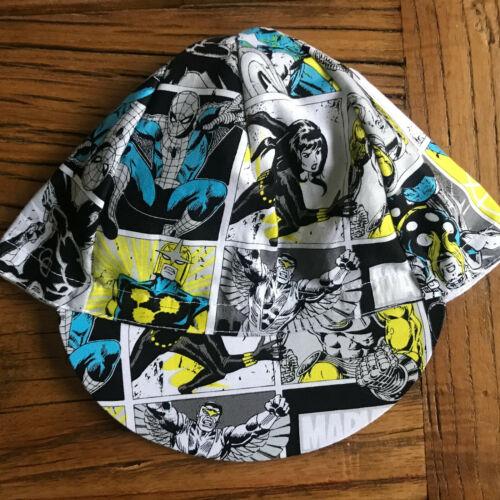 MARVEL COMICS SUPERHEROES Classique Bleu//Gris TEAM Cycling Cap nouveau chapeau ***