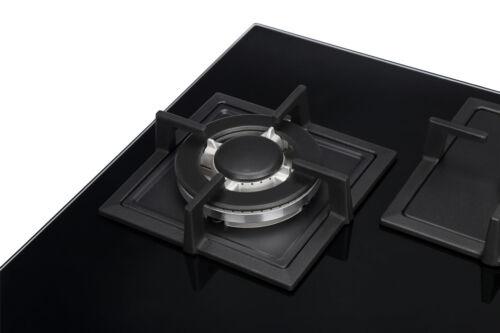 K/&H® 3 Zonen Glas Gaskochfeld Wok Brenner 70cm Erdgas 3Z-KHGW-3
