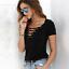 WA-045-Fashion-Women-Ladies-Casual-V-Neck-Short-Sleeve-Loose-Tops-T-Shirt-Blouse